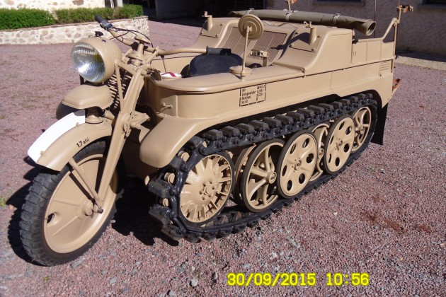 for sale, kettenkrad rebuilt as new, a masterpiece